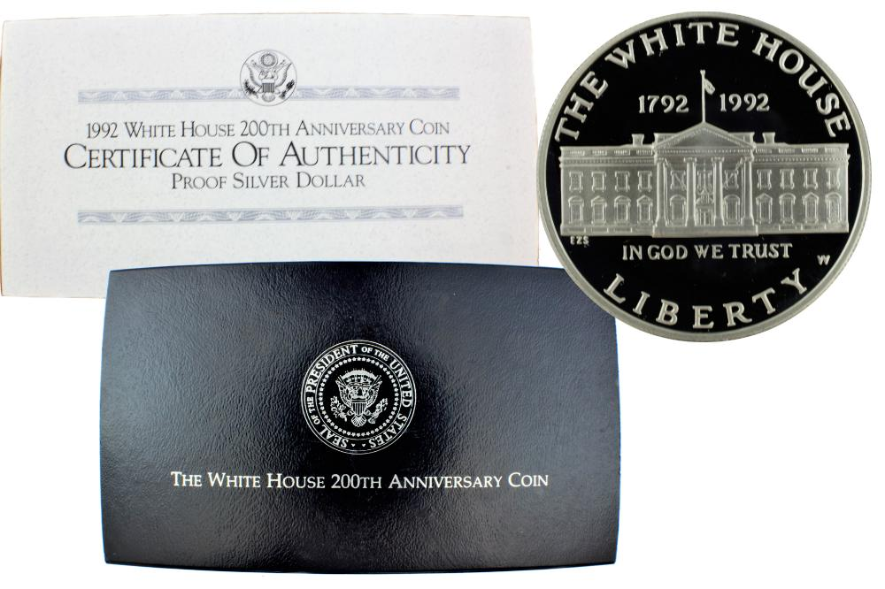 1992-W White House Commemorative Silver Dollar Proof