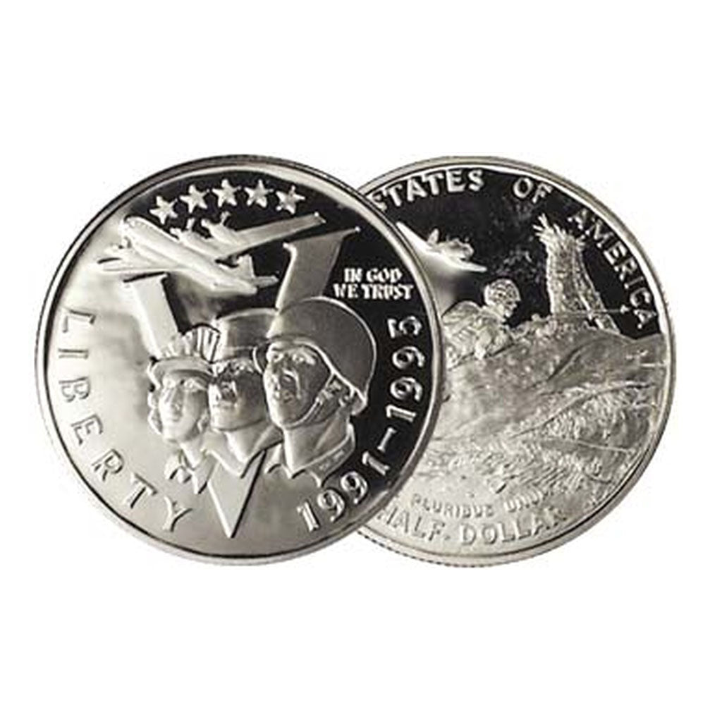 1993 Commemorative WWII Half Dollar Proof