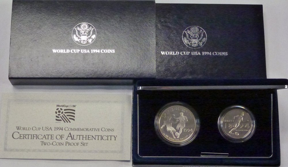 1994 World Cup USA 1994 Commemorative 2 Coin Proof Set