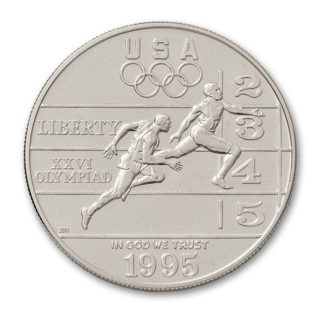 1995-P Track and Field Commemorative Silver Dollar Mint State