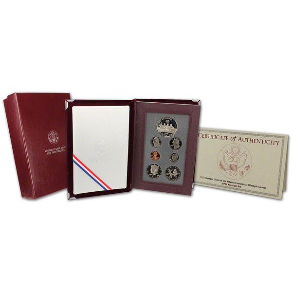 1996-U.S. Prestige Proof Set: 7-Coin Set with Box & COA