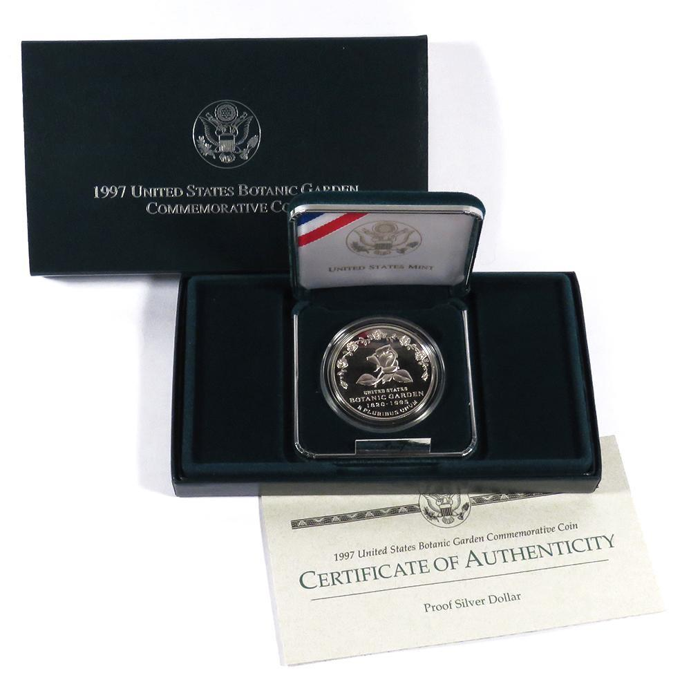 1997-P Botanic Gardens Commemorative Silver Dollar Proof