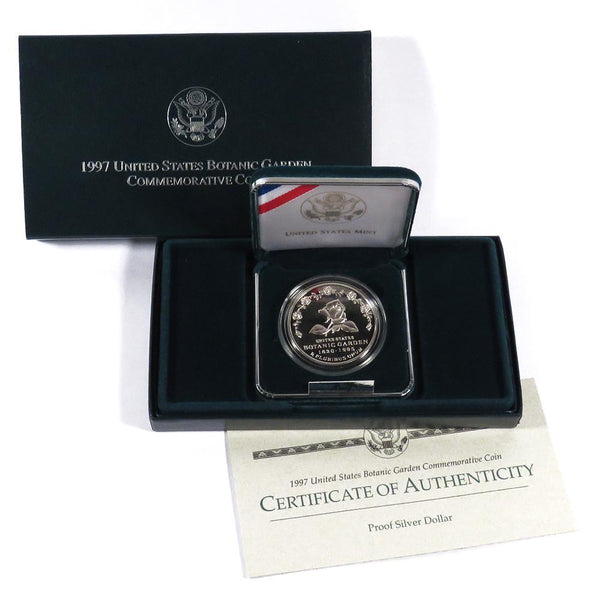 1997 Botanic Gardens Commemorative Silver Dollar Proof