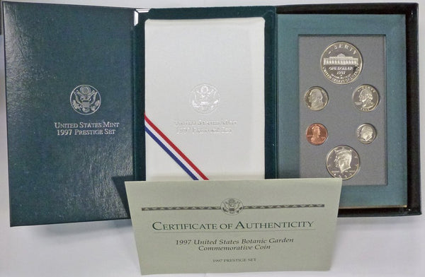 1997 Prestige Set Botanic Garden Commemorative Coin Proof