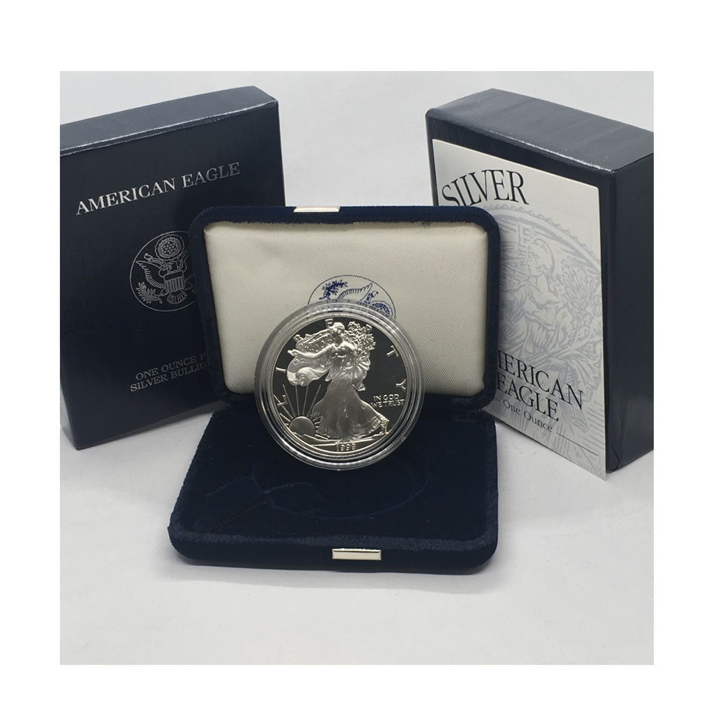 1999-P 1 oz American Silver Eagle Proof With Box and COA