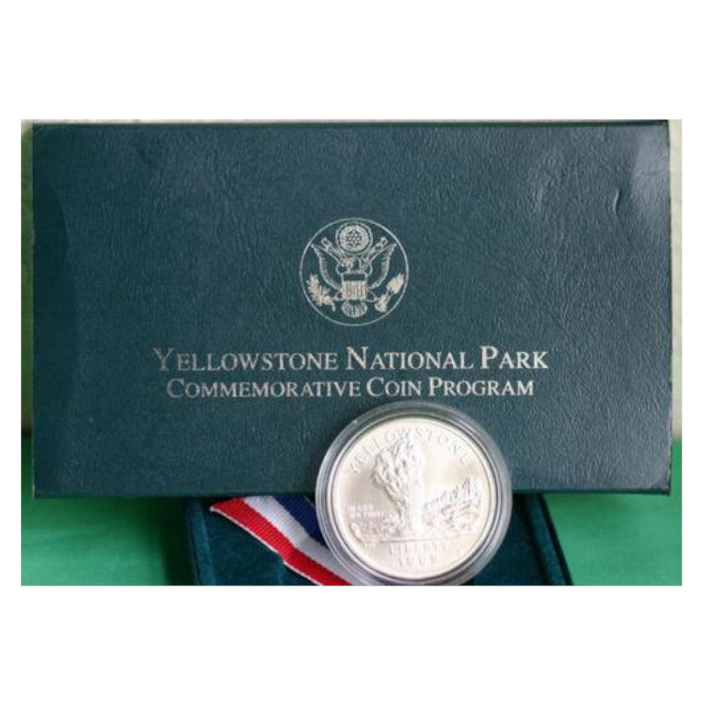 1999 Yellowstone National Park Commemorative Silver Dollar Mint State