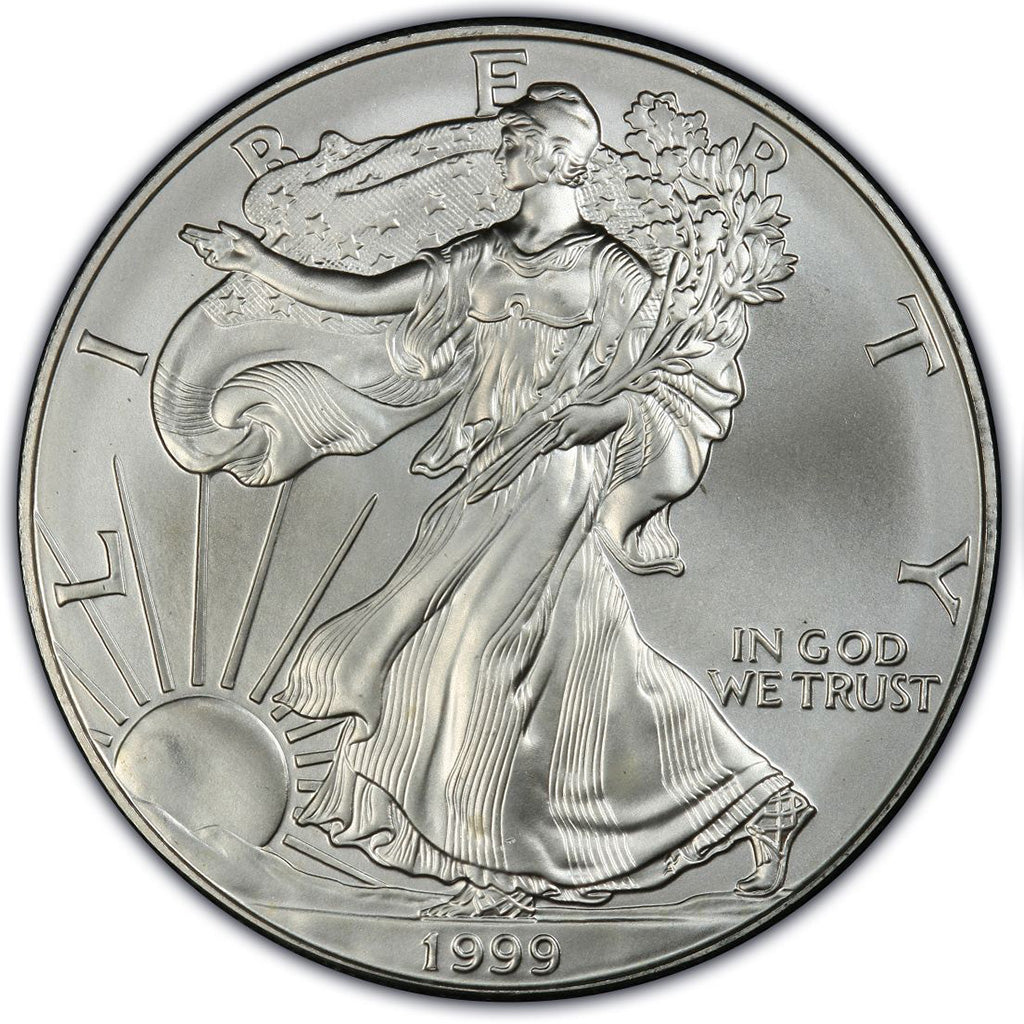 1999 1 oz American Silver Eagle Mint State Condition