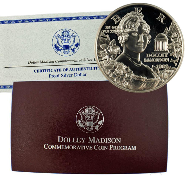 1999 Dolley Madison Commemorative Silver Dollar Proof