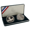 1999 Yellowstone Commemorative Silver Dollar BU & Proof 2-Coin Set