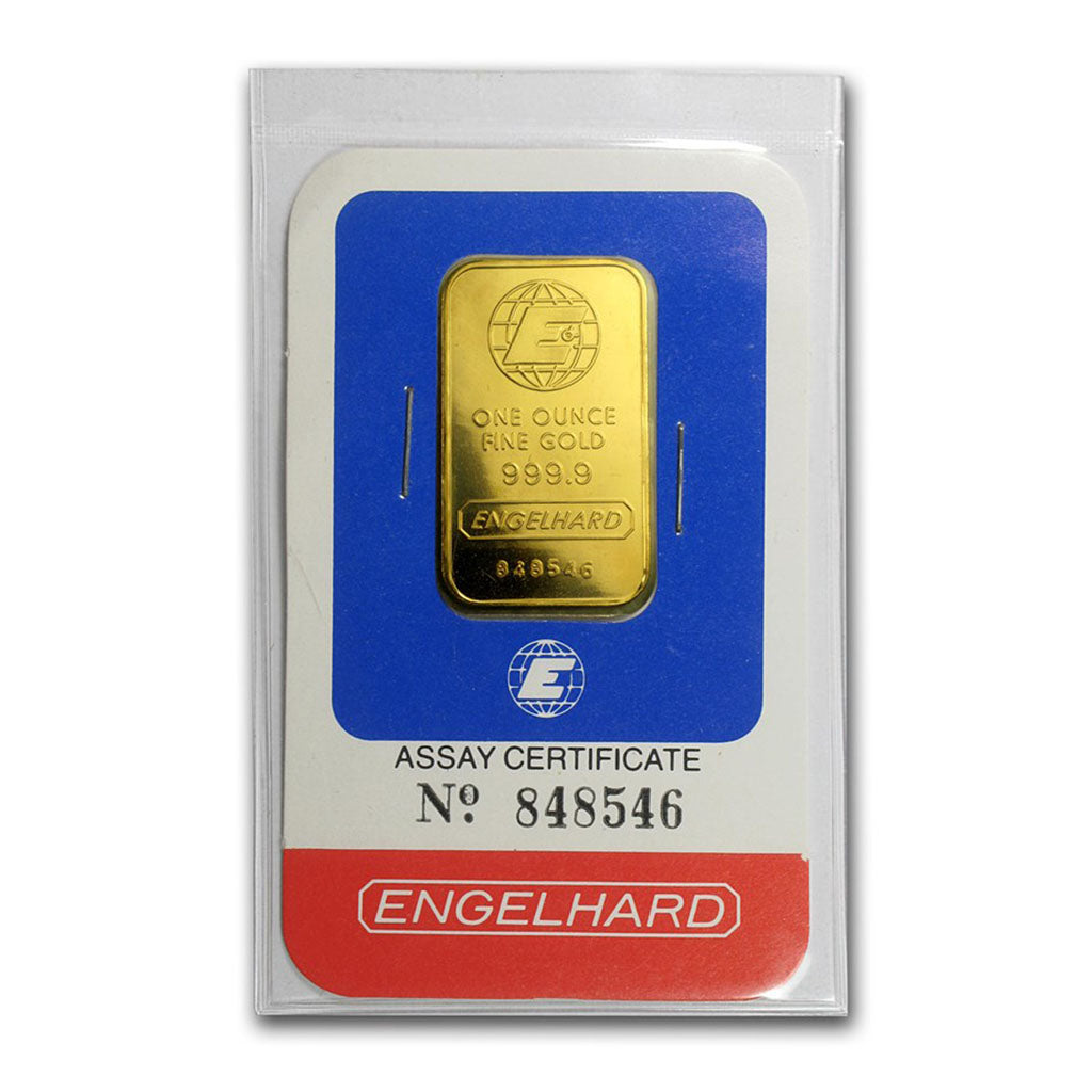 1 OZ Gold Bar Engelhard