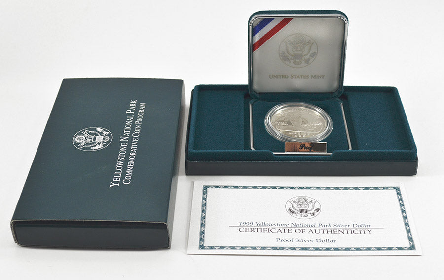 1999 Yellowstone National Park Commemorative Silver Dollar Proof