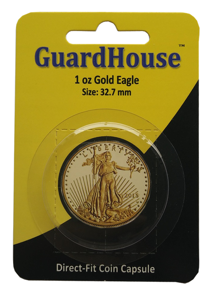 1 oz American Gold Eagle Direct Fit Guardhouse Capsule - Retail Card