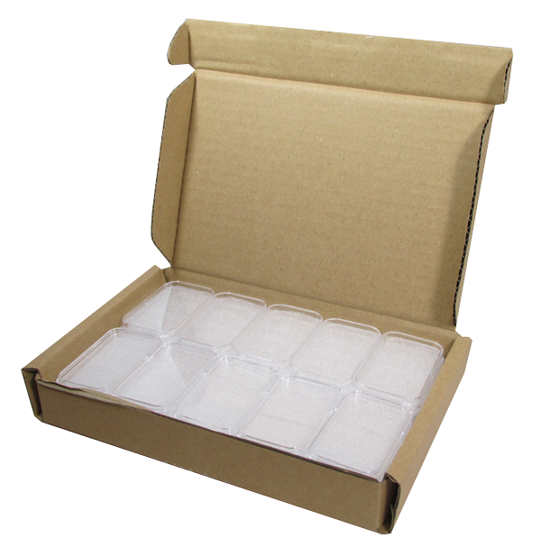 1 oz Silver Bar Direct-Fit holders - 25 per box.