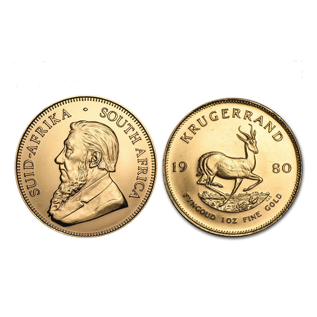 1 oz South African Gold Krugerrand (Year Varies)
