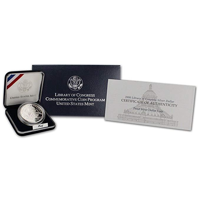 2000-P Library of Congress Commemorative Silver Dollar Proof