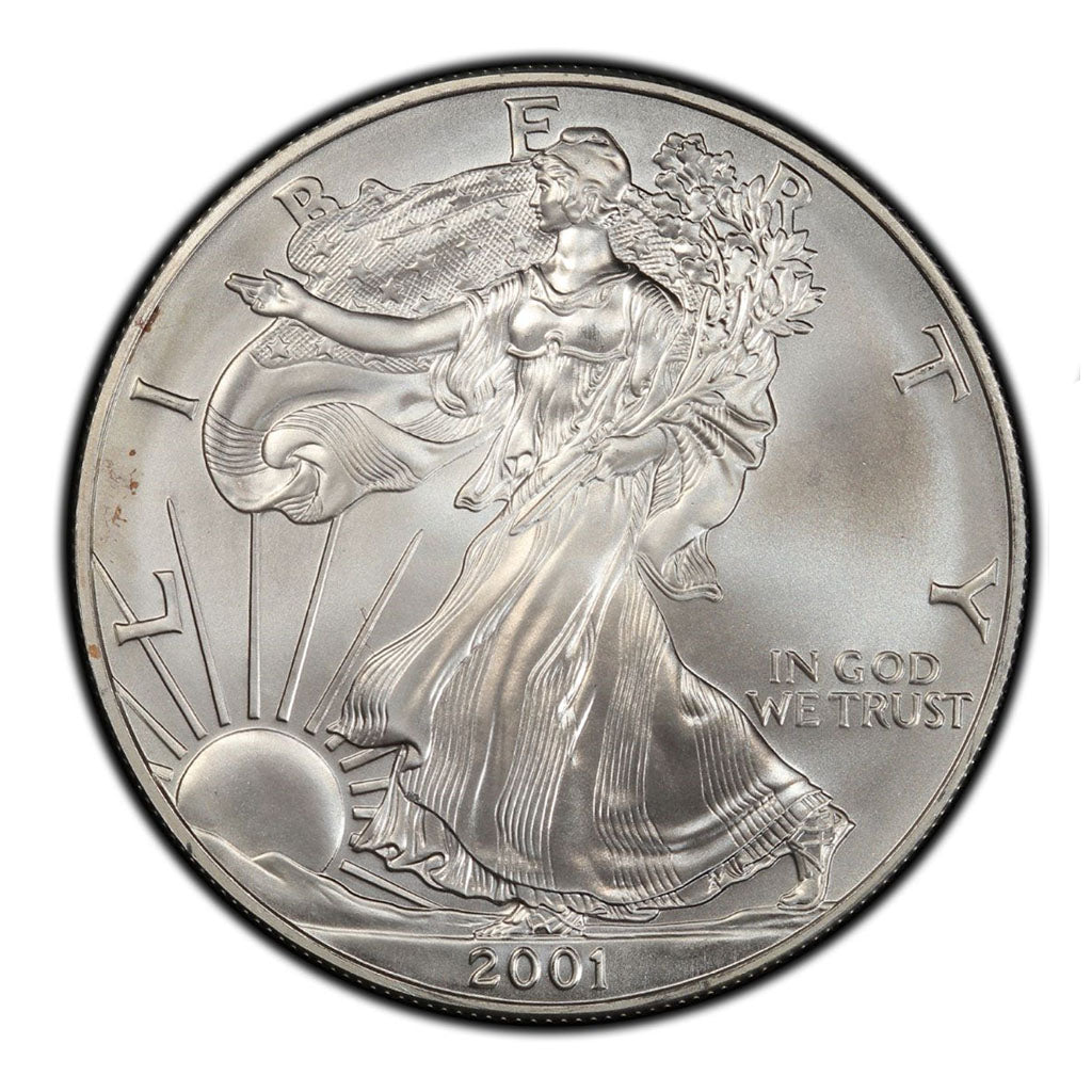 2001 1 oz American Silver Eagle Mint State Condition