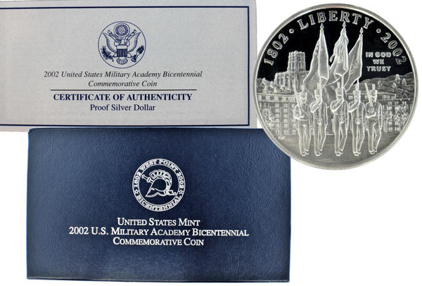 2002 West Point Commemorative Silver Dollar Proof