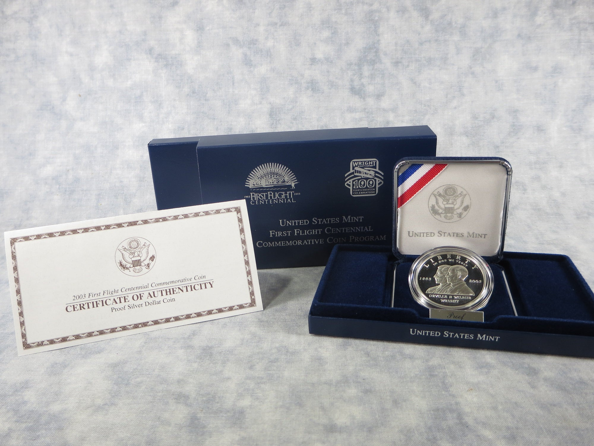 2003-P First Flight Commemorative Silver Dollar Proof