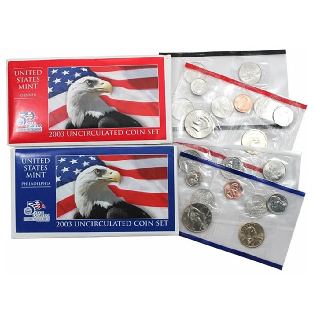 2003-P&D U.S. Uncirculated Set: 20-Coin Set in Original Packaging