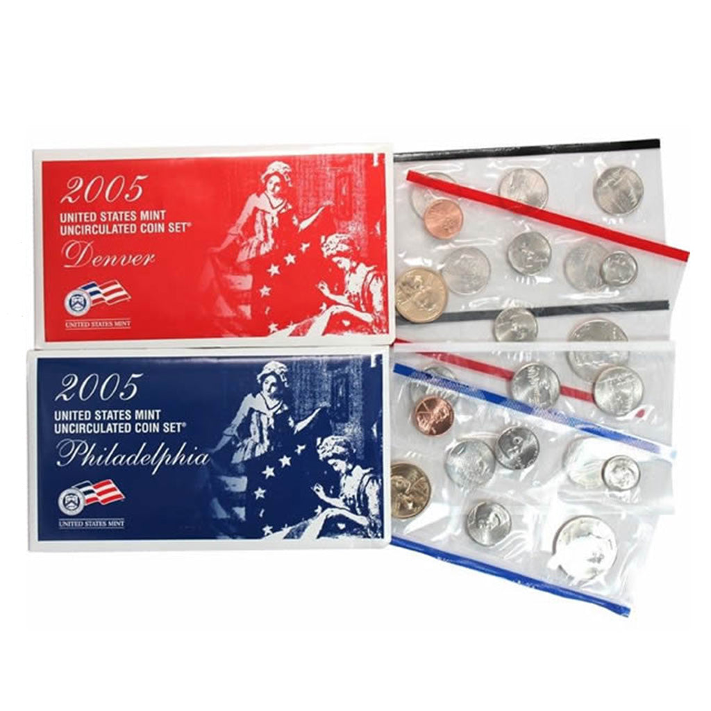 2005-P&D U.S. Uncirculated Set: 22-Coin Set in Original Packaging