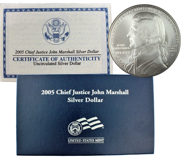 2005 John Marshall Commemorative Silver Dollar BU