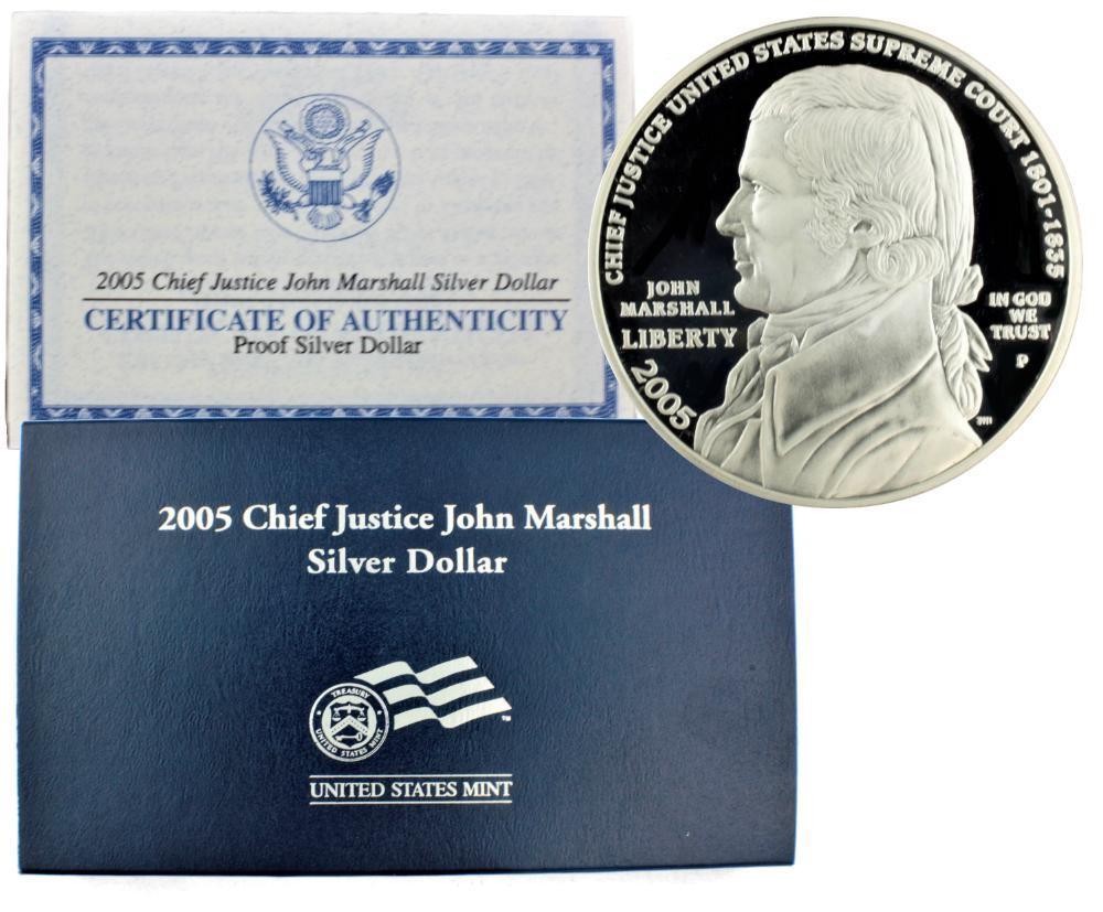 2005-P John Marshall Commemorative Silver Dollar Proof