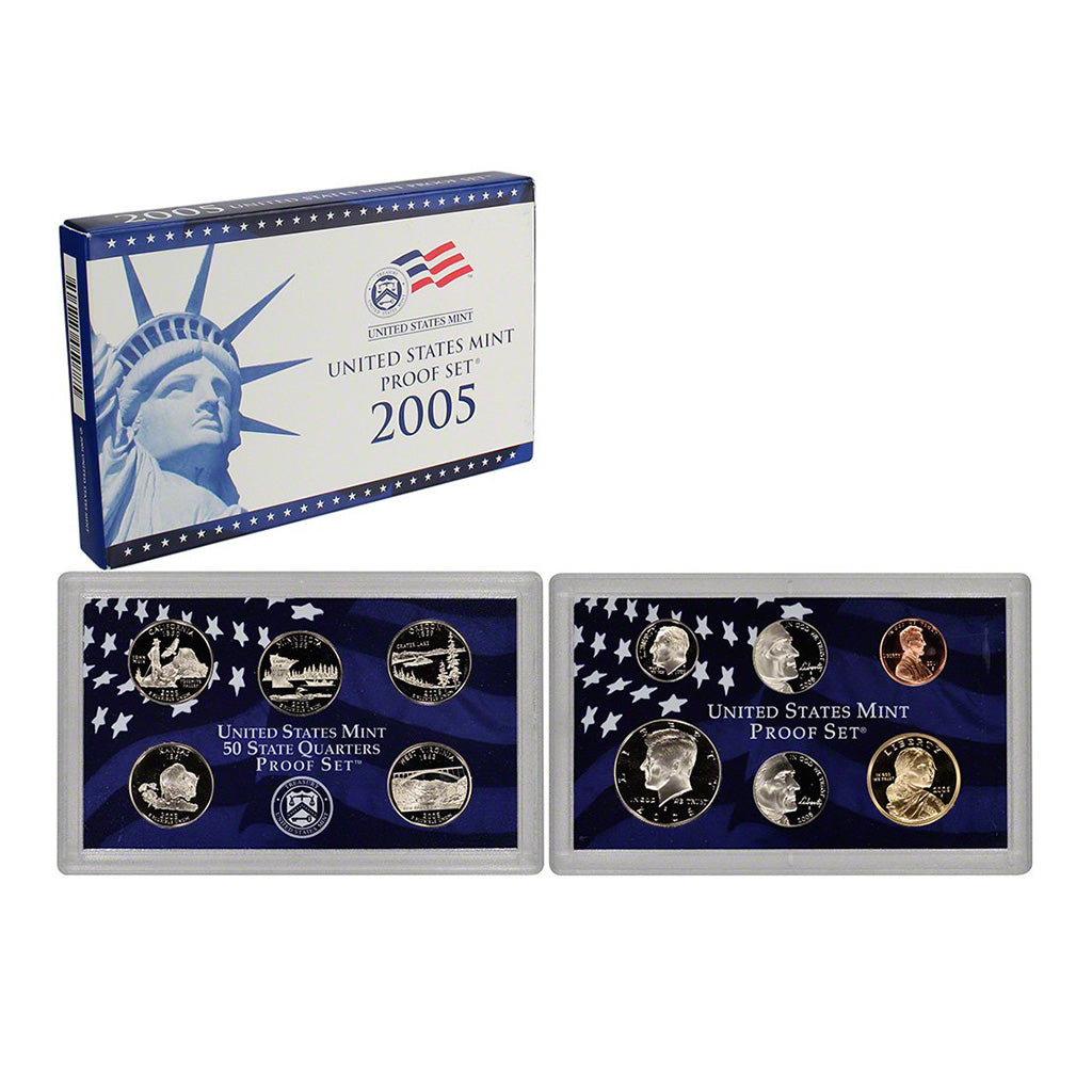 2005-S U.S. Clad Proof Set: Complete 11-Coin Set, with Box and COA