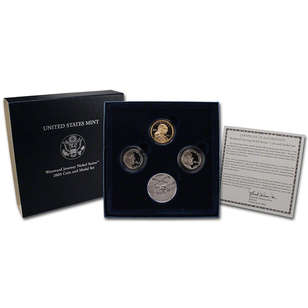 2005 Westward Journey Nickel Series Coin and Medal Set