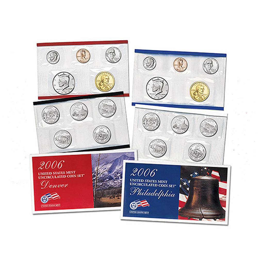 2006-P&D U.S. Uncirculated Set: 20-Coin Set in Original Packaging