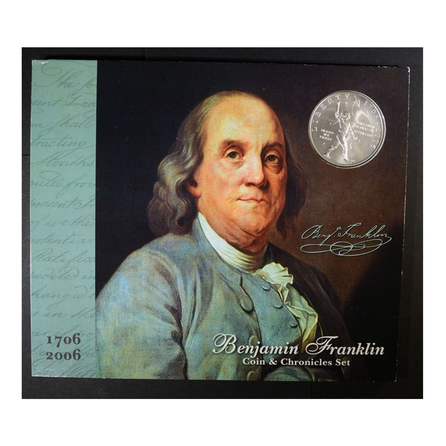 2006 Benjamin Franklin Coin and Chronicles Set