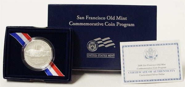 2006 Old San Francisco Mint Commemorative Silver Dollar BU