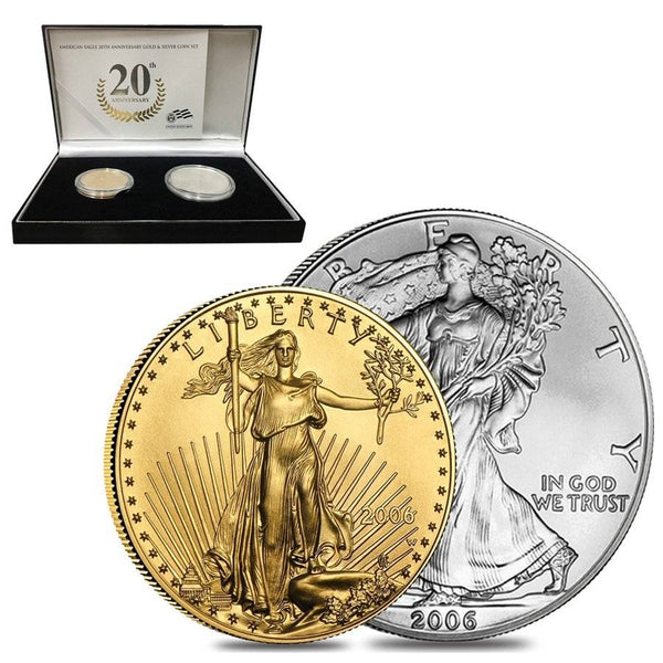 2006-W American Eagle 20th Gold and Silver Coin Set BU