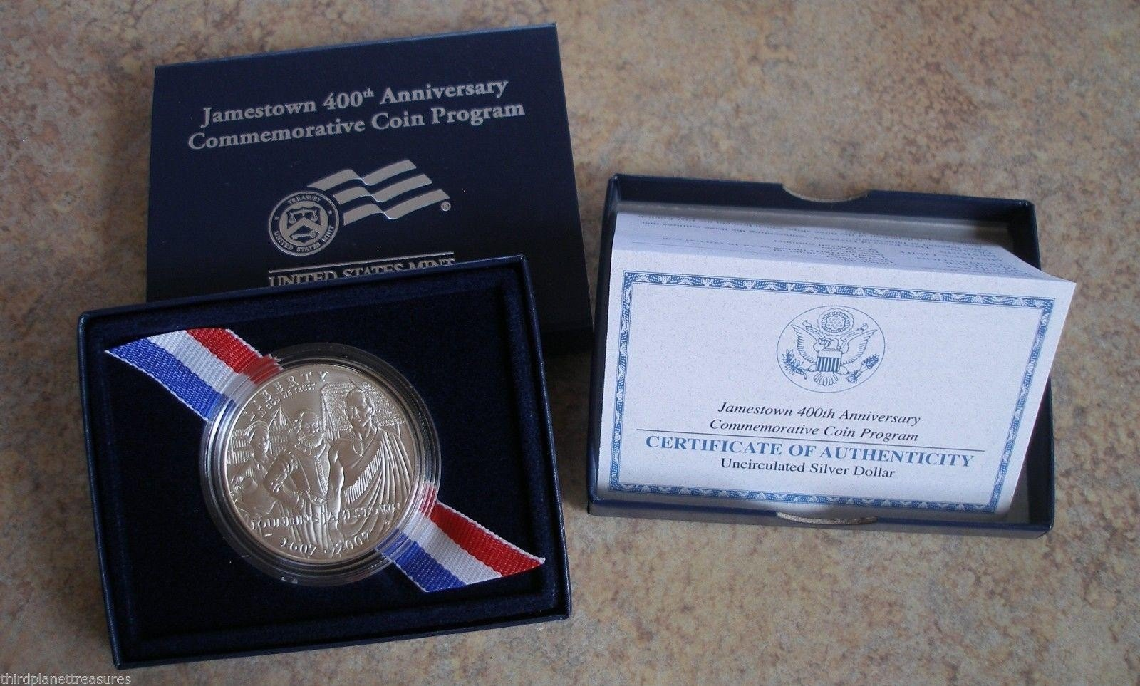 2007-P Jamestown 400th Anniversary Commemorative Silver Dollar Mint State