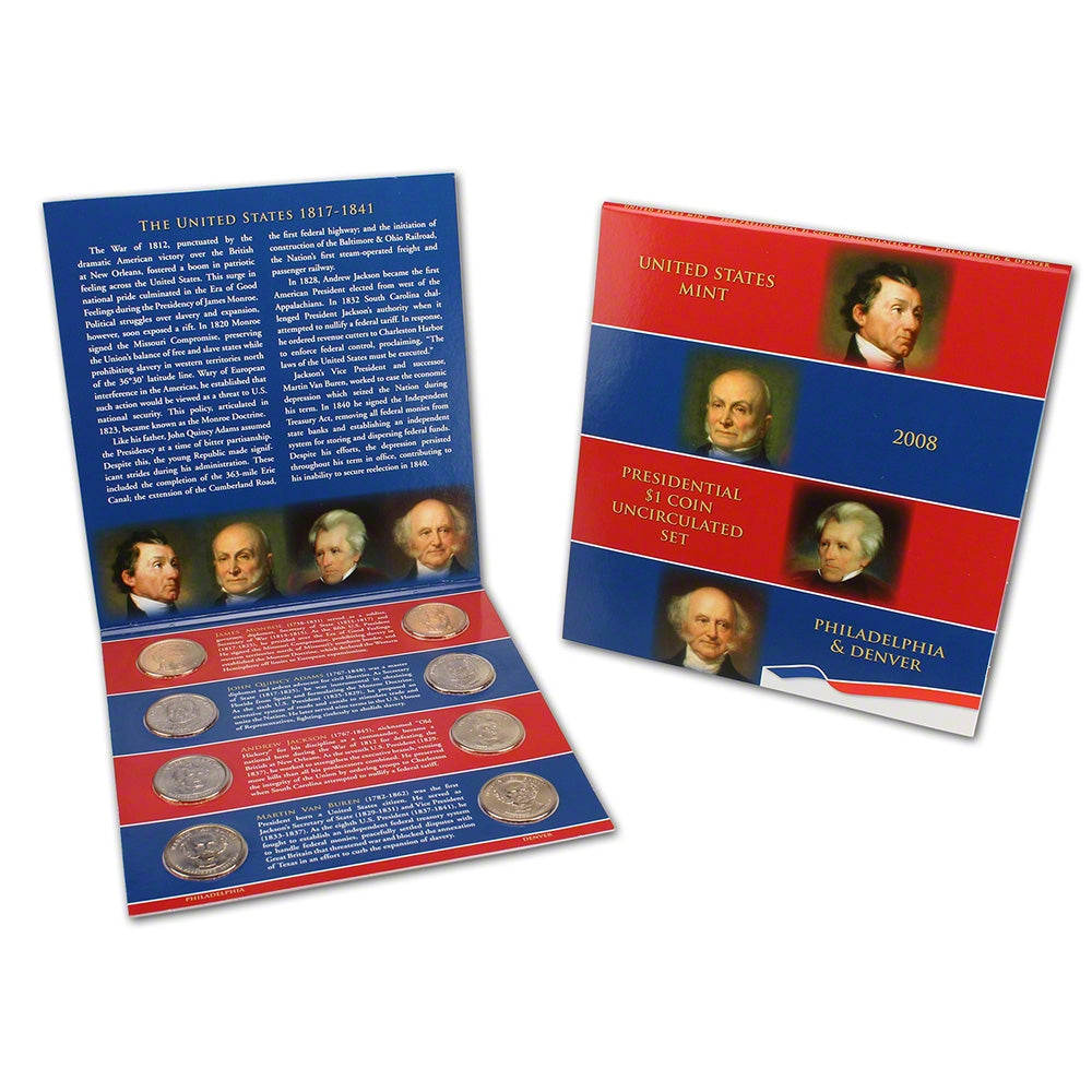2008 U.S. Presidential One Dollar Coin Uncirculated Set P&D Sealed