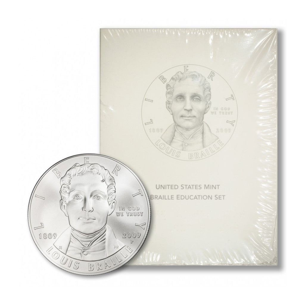 2009-P Braille Education Set Commemorative Silver Dollar Mint State