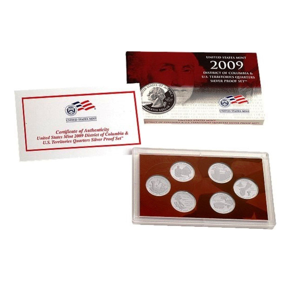 2009 State Quarter Silver Proof Set, D.C. and U.S. Territories