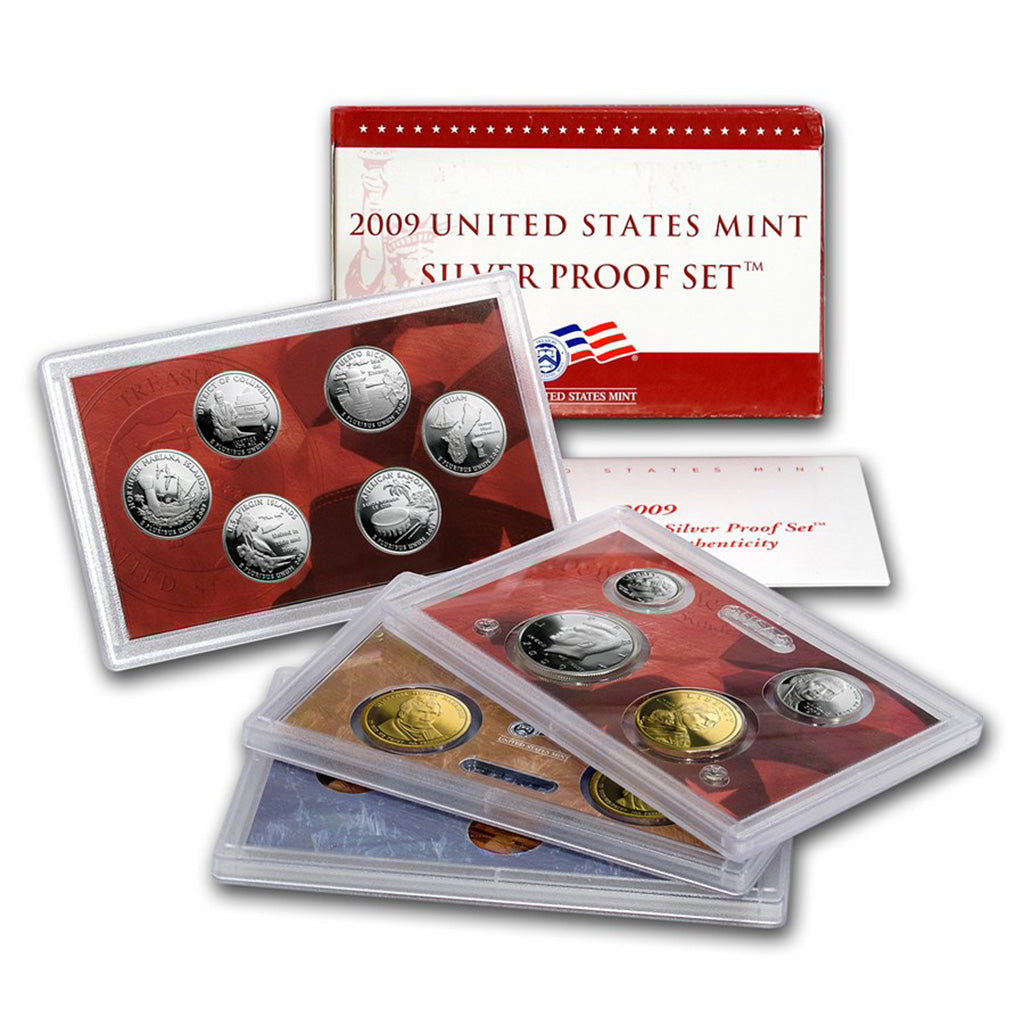 2009-S U.S. Silver Proof Set: Complete 18-Coin Set, with Box and COA