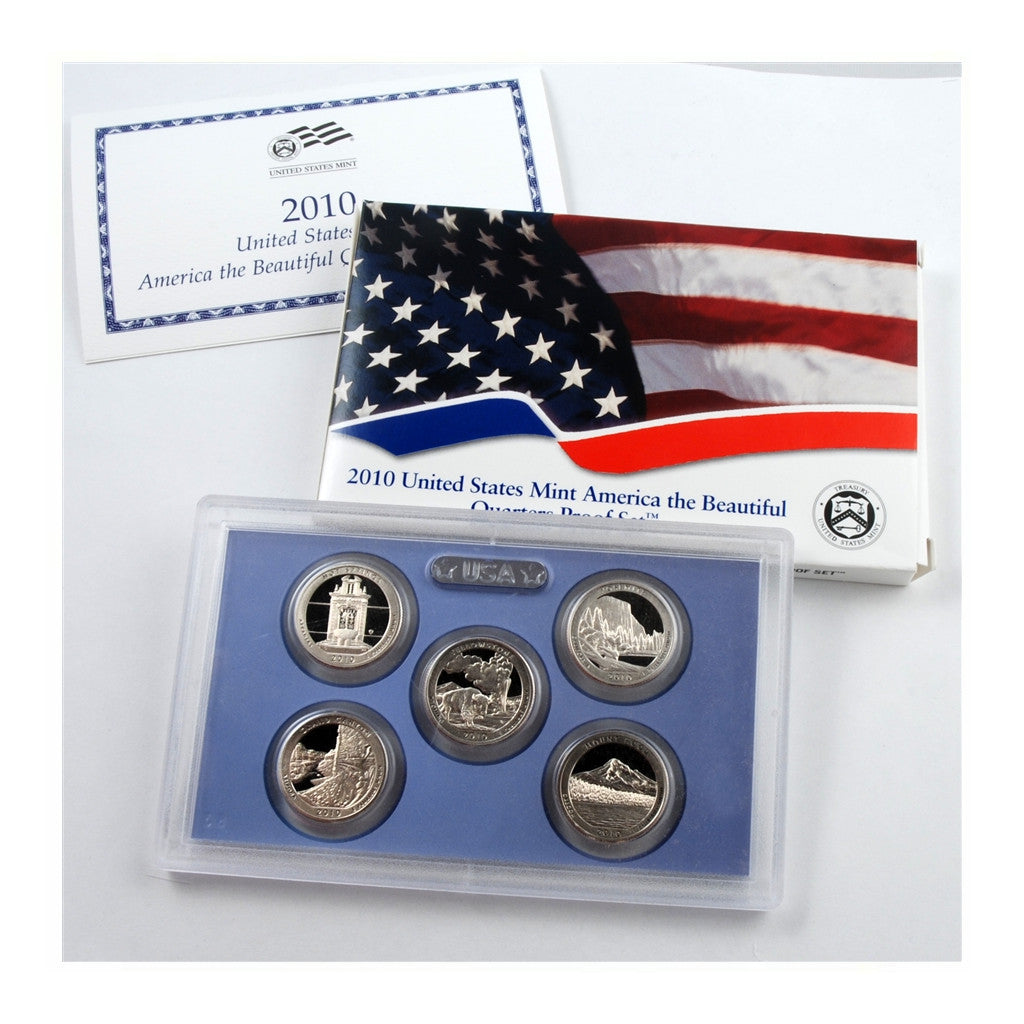 2010 U.S. Proof Set, America The Beautiful Quarters