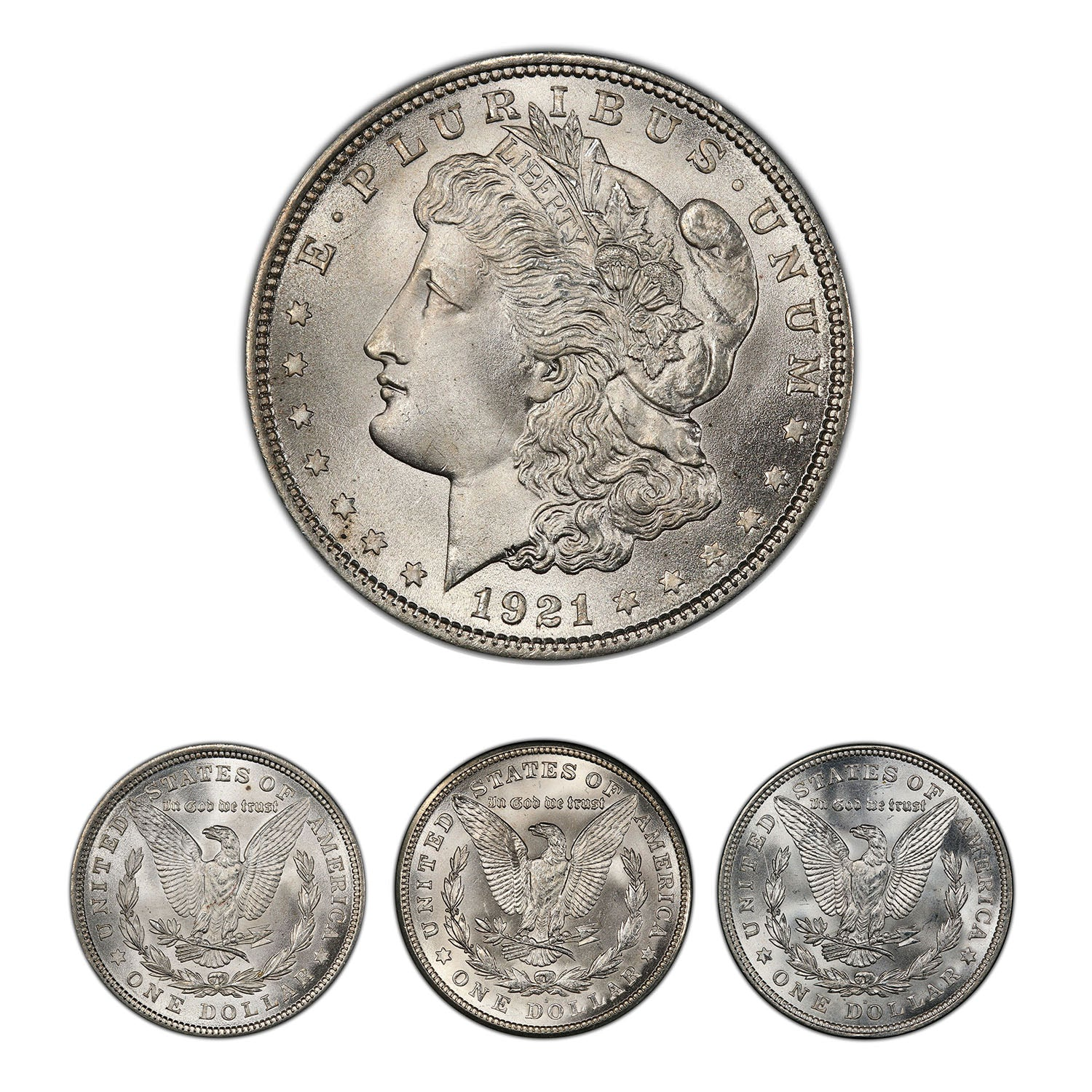 The Last Morgan Silver Dollar Mint Mark Collection & Wood Box