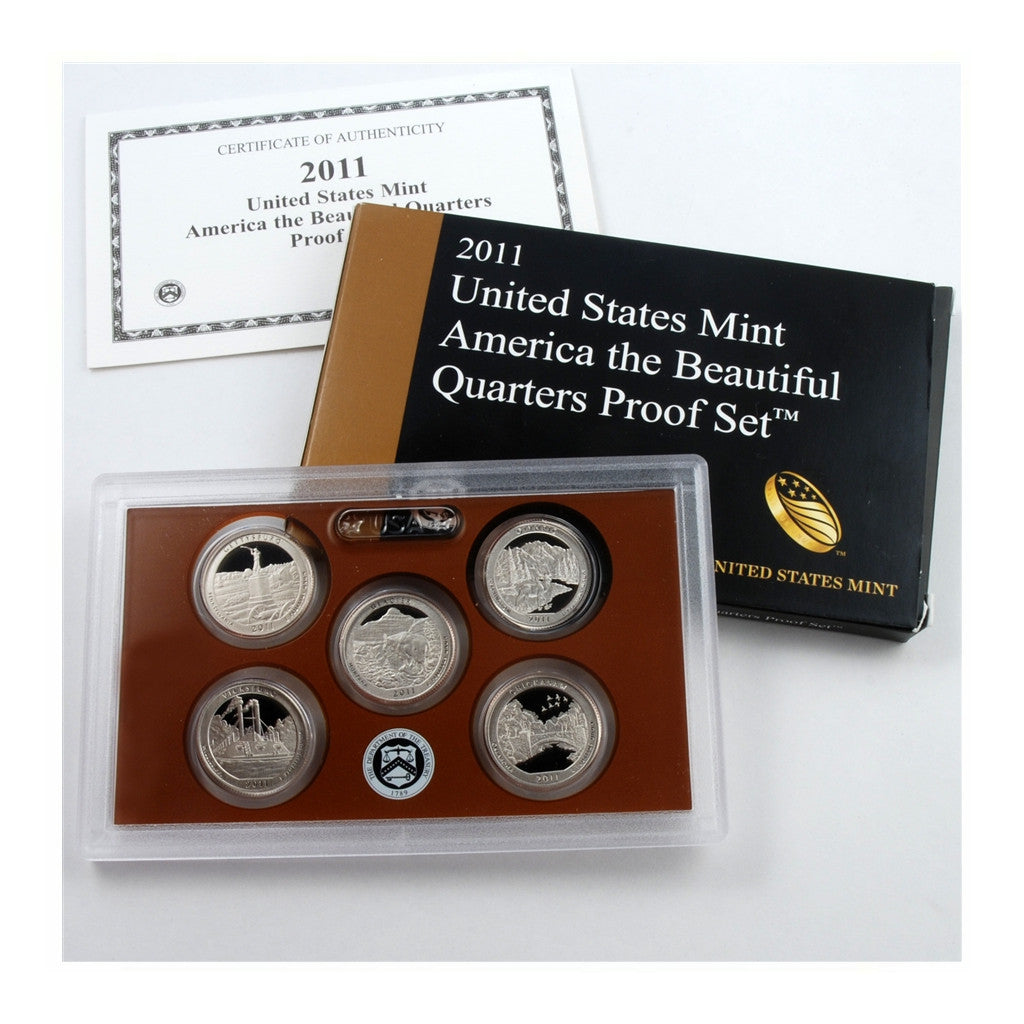 2011 U.S. Proof Set, America The Beautiful Quarters