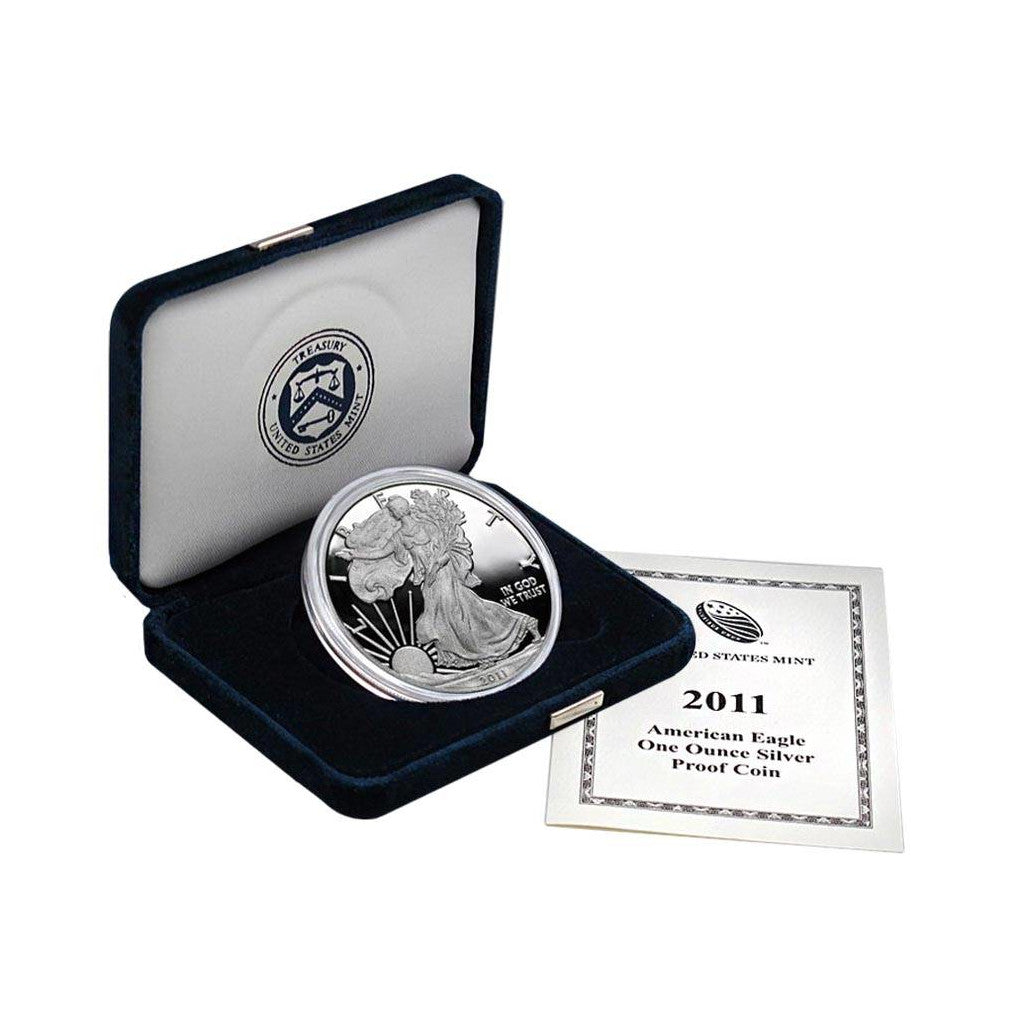 2011-W 1 oz American Silver Eagle Proof With Box and COA
