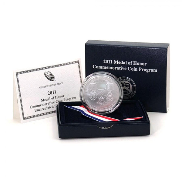 2011 Medal of Honor Commemorative Silver Dollar BU