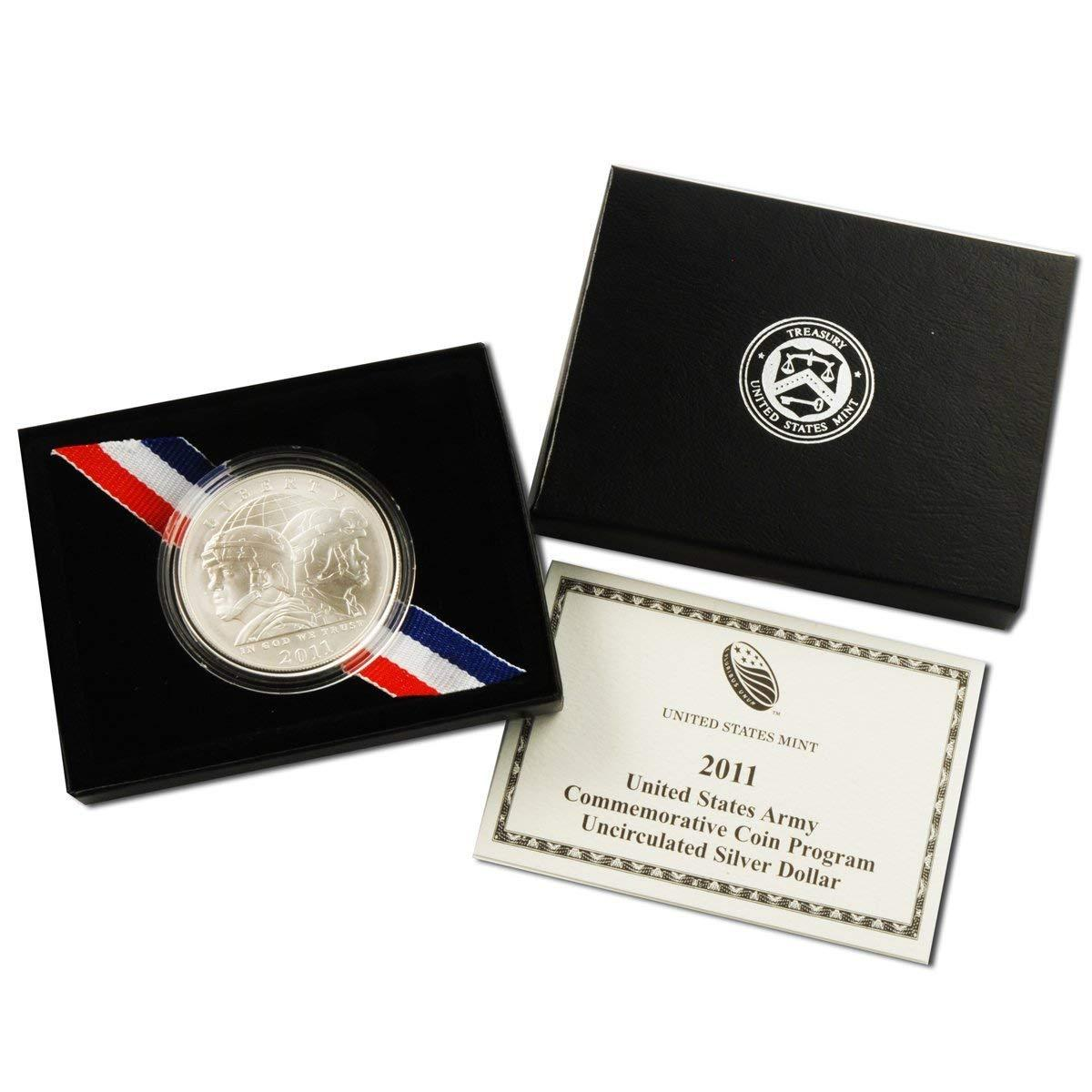 2011 United States Army Commemorative Silver Dollar Mint State