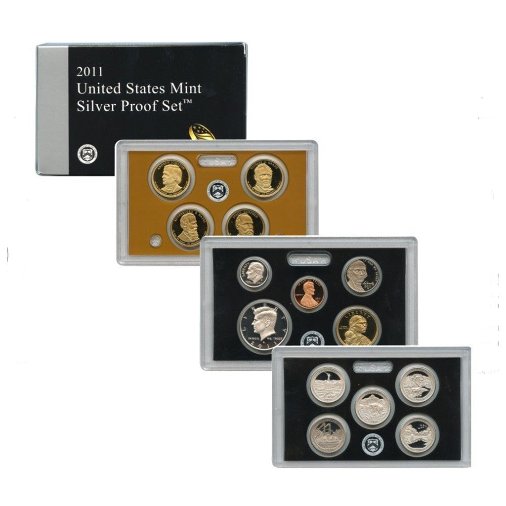 2011-S U.S. Silver Proof Set: Complete 14-Coin Set, with Box and COA