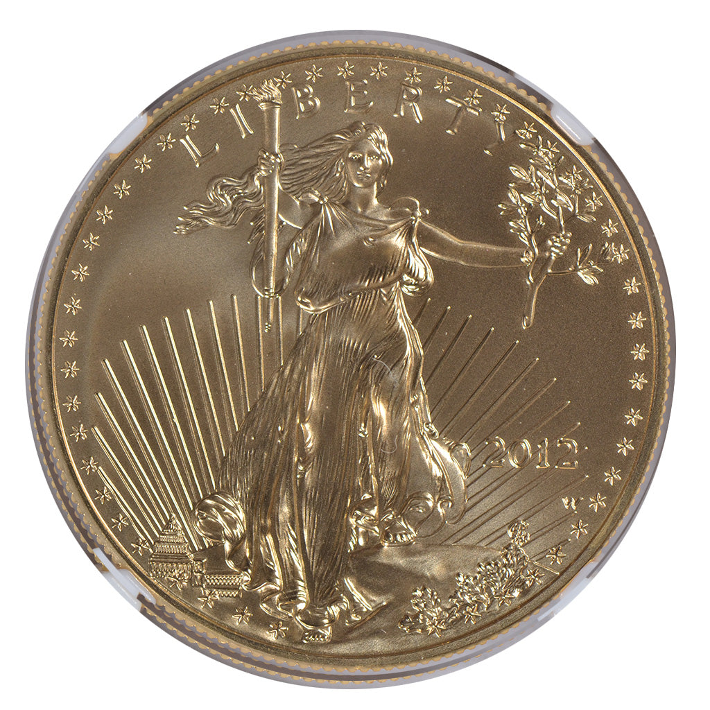 2012-W 1 oz American Gold Eagle NGC MS70