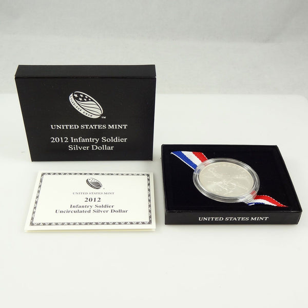 2012 Infantry Soldier Commemorative Silver Dollar BU