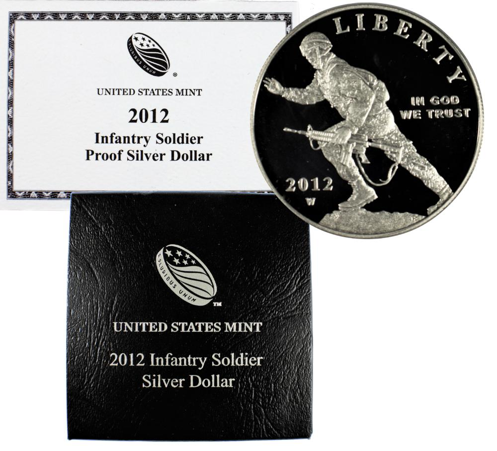 2012-W Infantry Soldier Commemorative Silver Dollar Proof