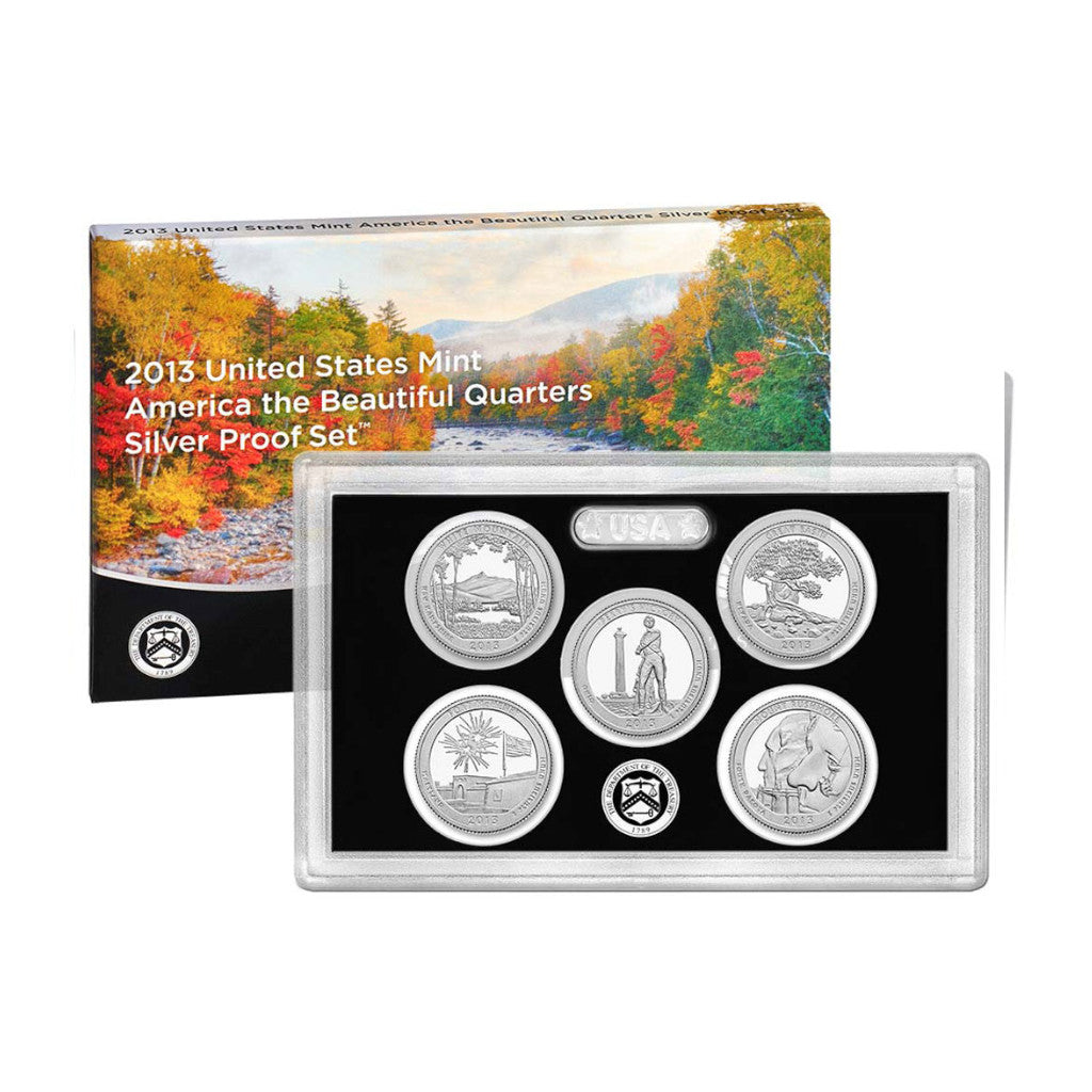 2013 U.S. Silver Proof Set, America The Beautiful Quarters