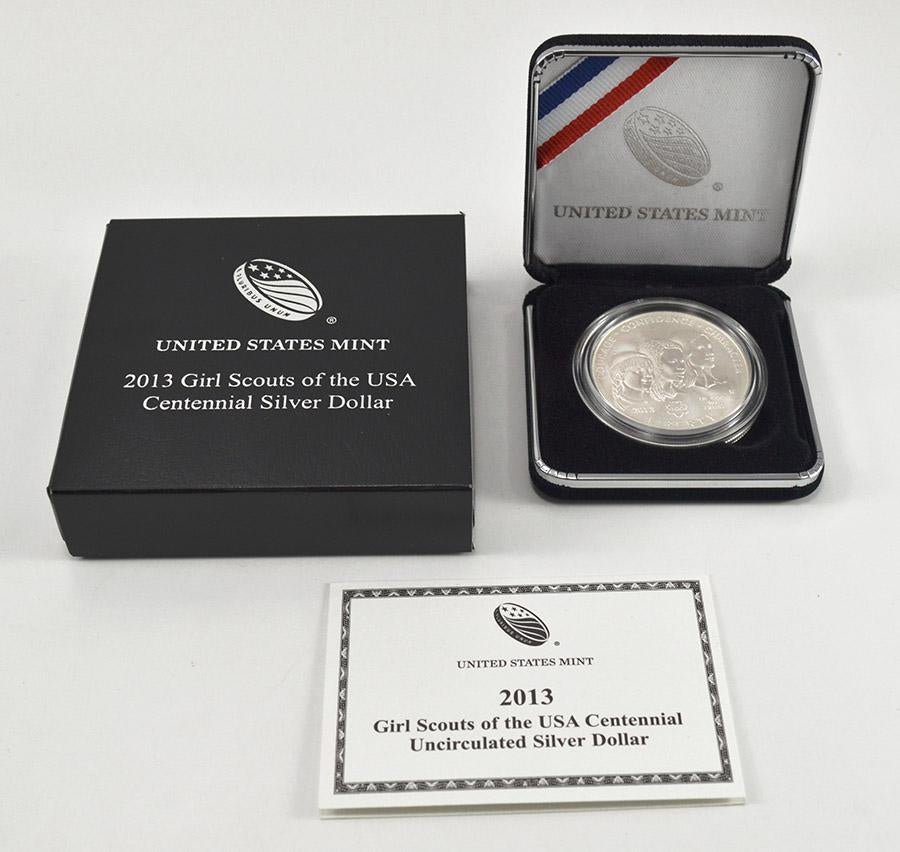 2013 Girl Scouts Commemorative Silver Dollar BU