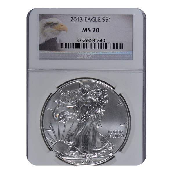 2013 1 oz American Silver Eagle NGC MS70